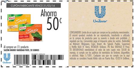 Cupón_Knorr_Unilever_Puerto_Rico