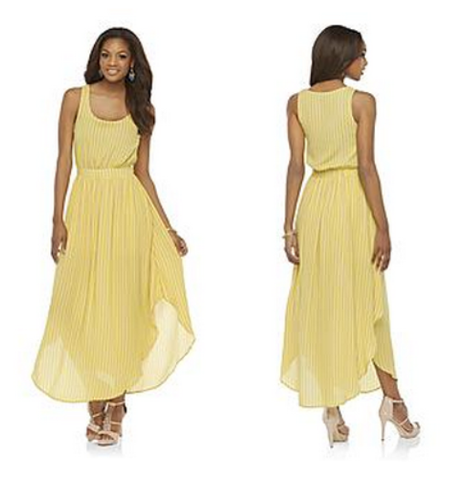 Kardashian_Maxi_Dress_Yellow_Sears
