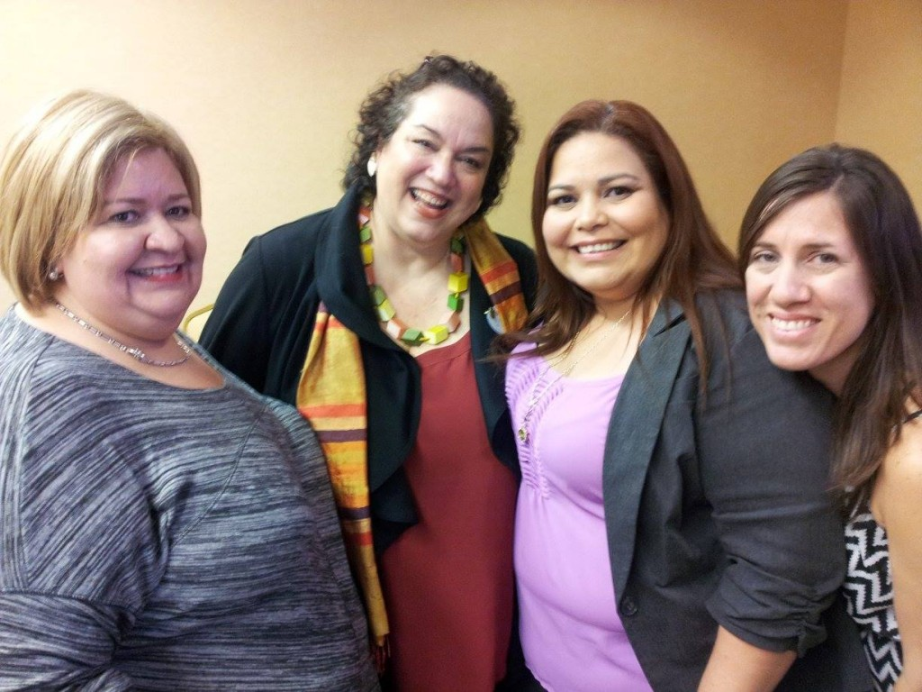 De izquierda a derecha: Jeannette Cantore, Susana Tubert, Creative Sirector of Disney, Edith Tapia y Mayra Rodríguez.