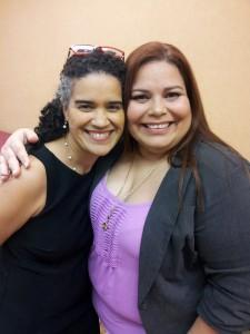 Edith Tapia junto a Ana Roca, fundadora de Latism