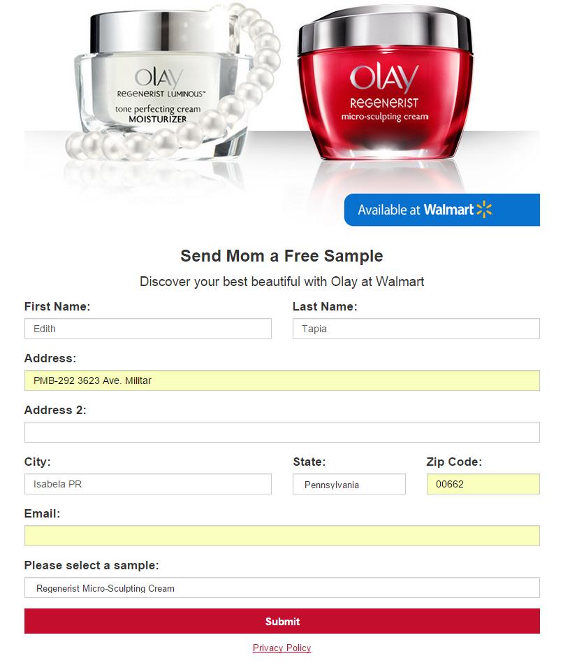 Olay-Regenerist-sample-GRATIS
