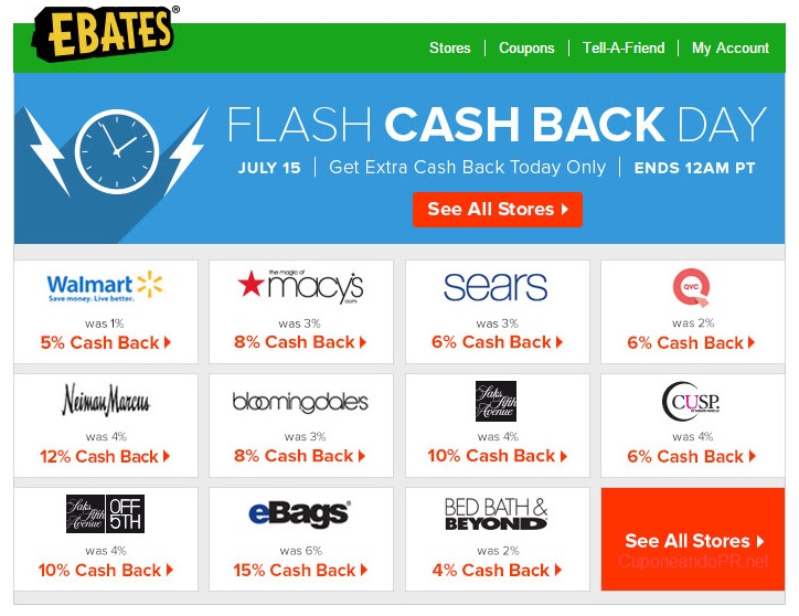 ebates flash cask back sale