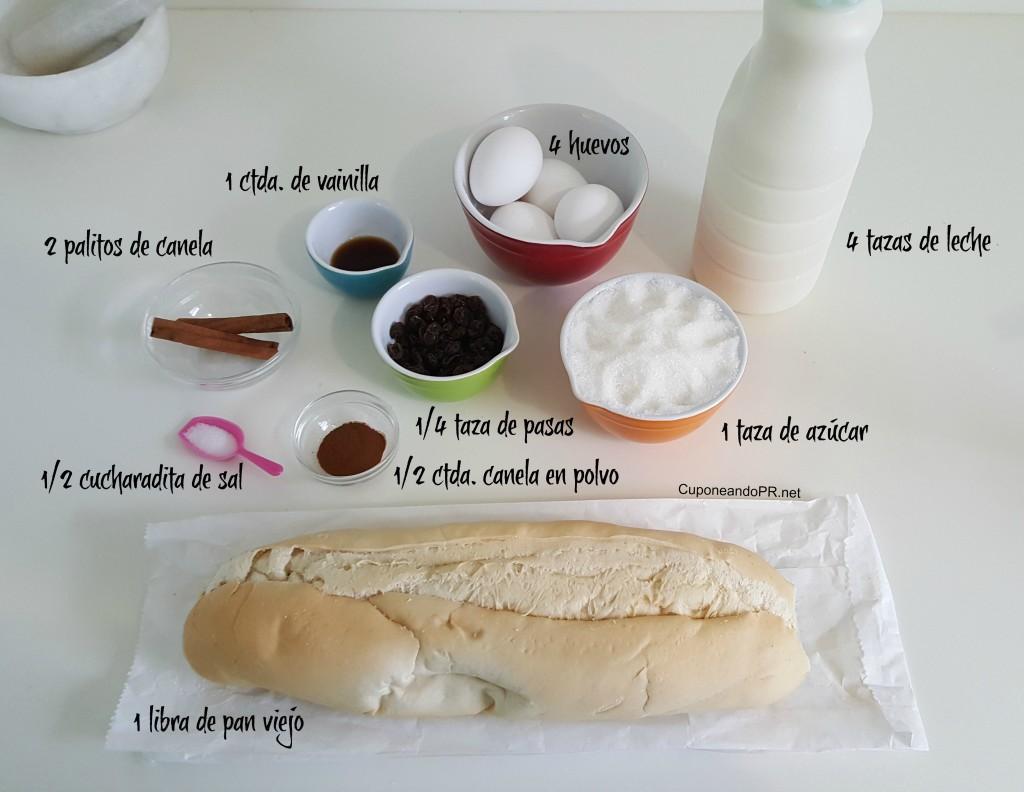 Ingredientes-budin-de-pan-y-lehe