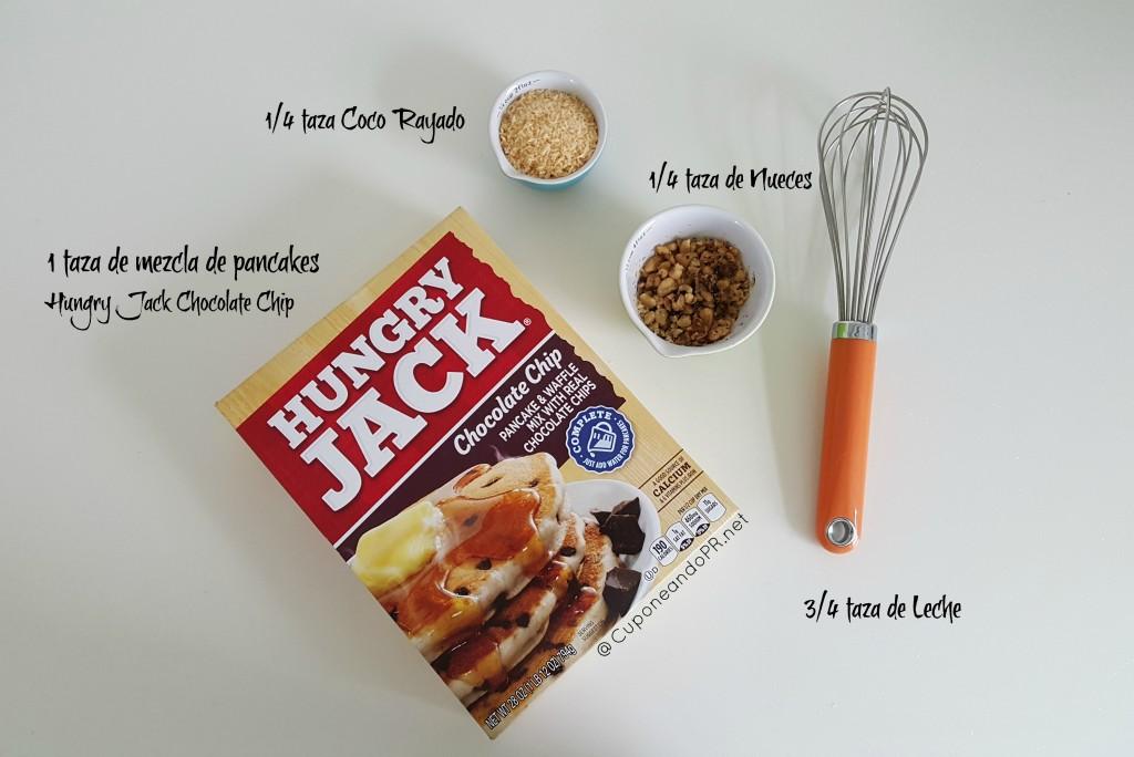 pancakes coco y nueces
