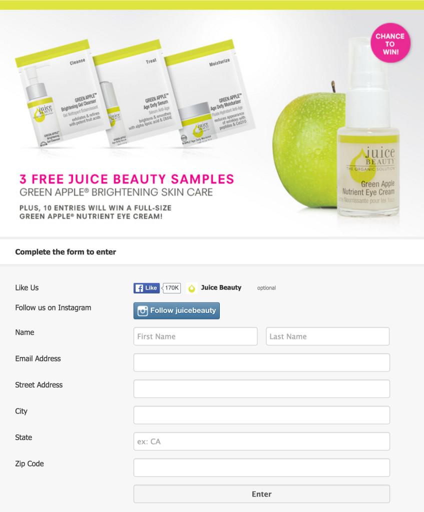 Juice Beauty muestra