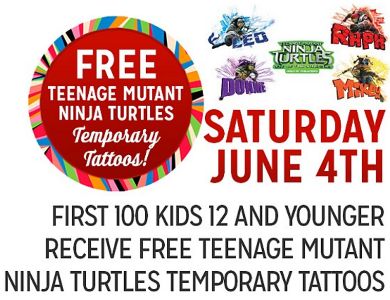 Freebie Saturday Tatuajes Ninjas Turtles