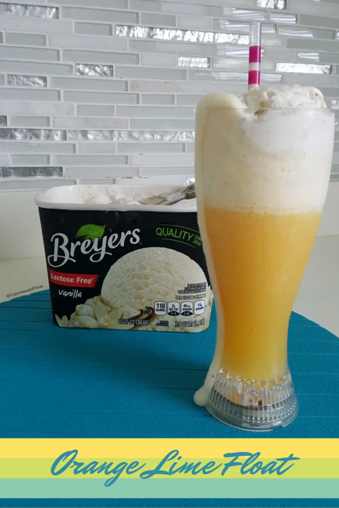 Orange Lime Float con mantecado Breyers