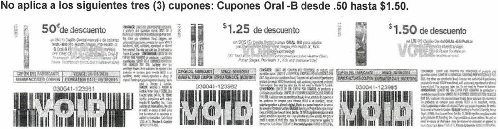 Douple Coupon Kmart Exclusiones
