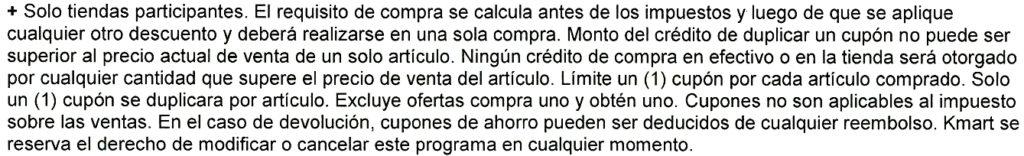 Letras Chiquitas Duplicacion Kmart