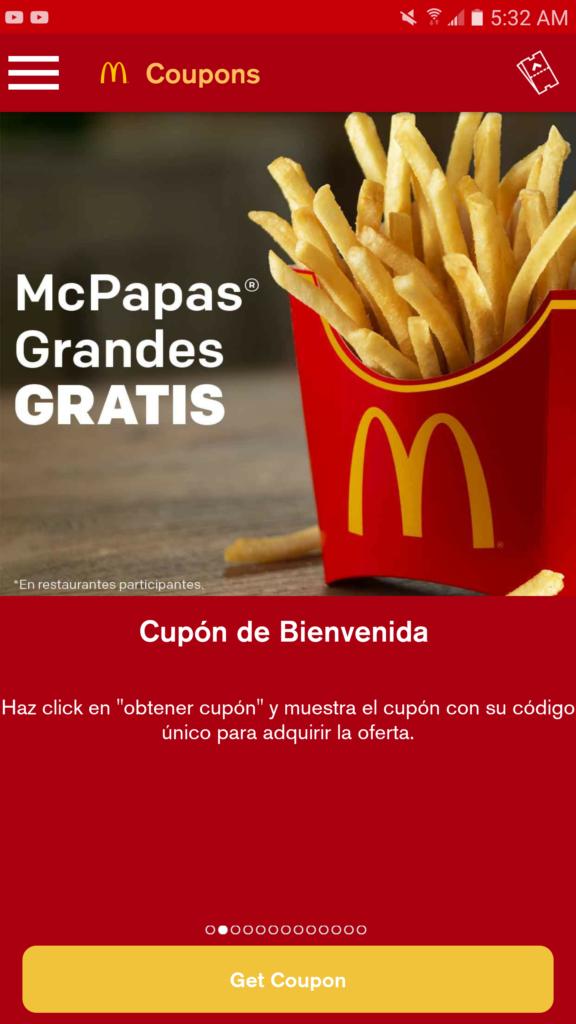 Papitas Gratis McDonald's