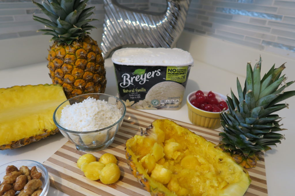 Ingredientes Piña Colada Sundae