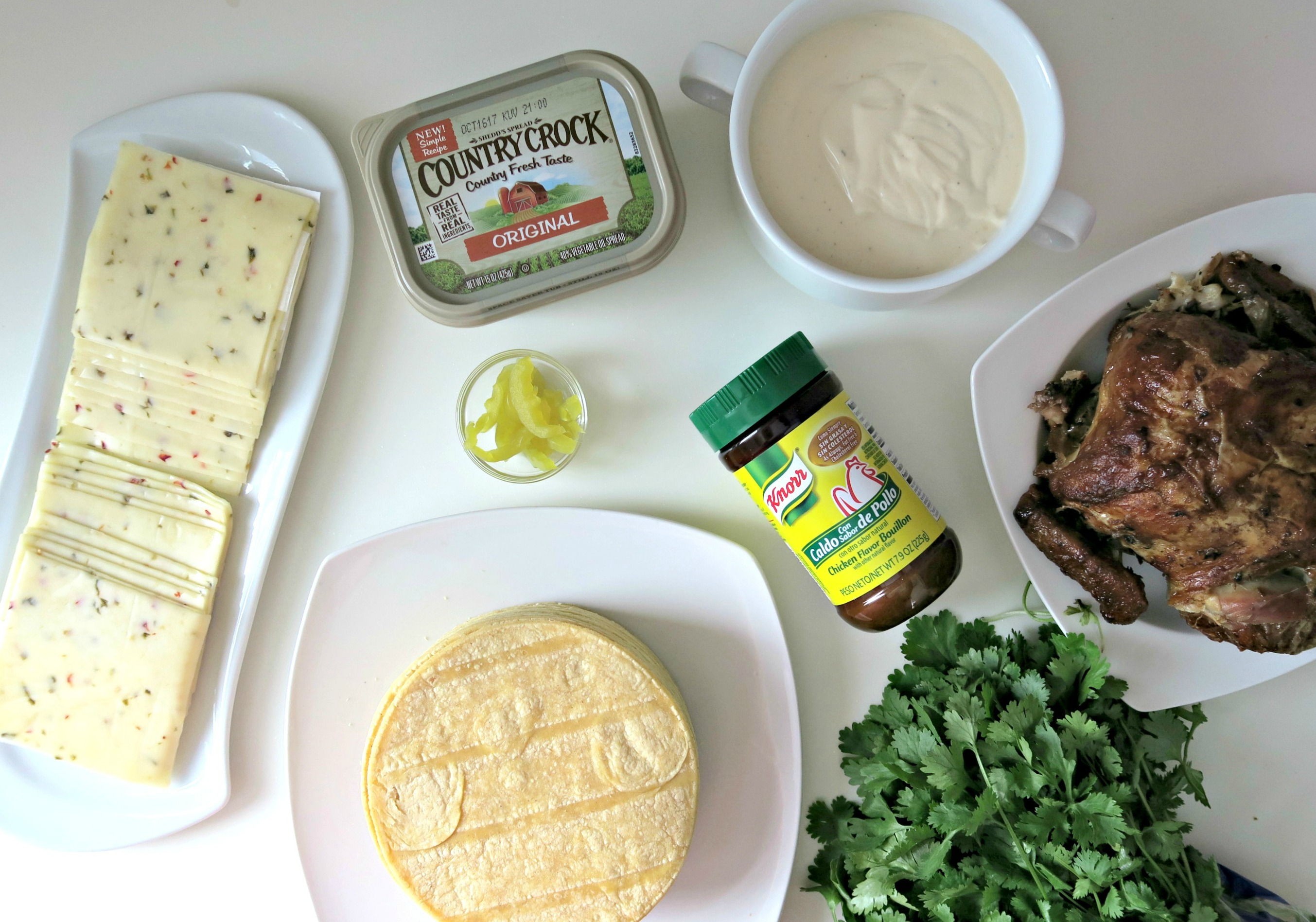 Ingredientes de Enchiladas de Pollo