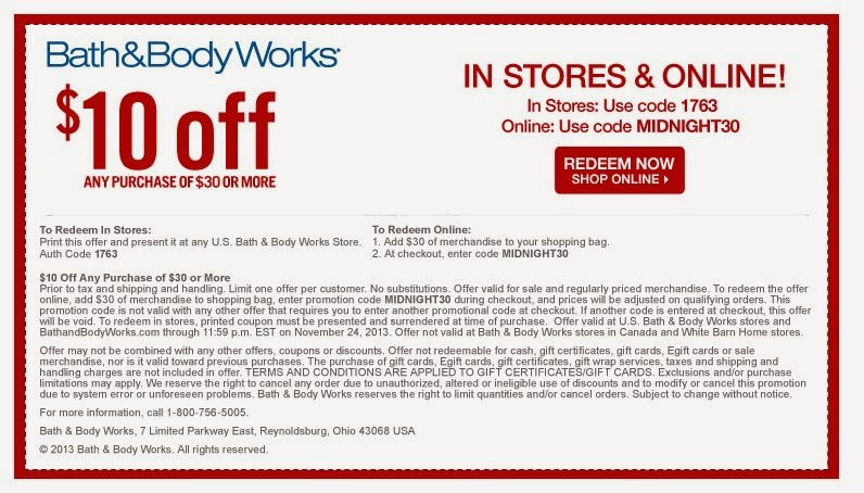 top bath amp body works coupon get 10 off your 30 purchase with promo code get